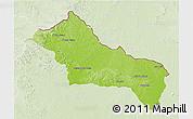Physical 3D Map of RIVERA, lighten