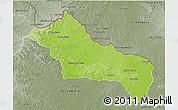 Physical 3D Map of RIVERA, semi-desaturated