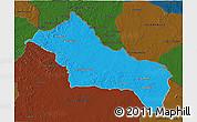Political 3D Map of RIVERA, darken