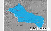 Political 3D Map of RIVERA, desaturated