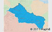 Political 3D Map of RIVERA, lighten