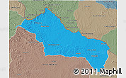 Political 3D Map of RIVERA, semi-desaturated