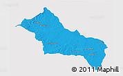 Political 3D Map of RIVERA, single color outside