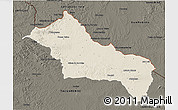 Shaded Relief 3D Map of RIVERA, darken