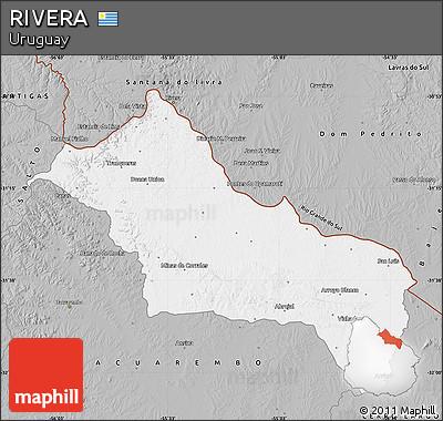 Gray Map of RIVERA