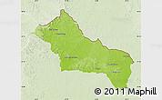 Physical Map of RIVERA, lighten