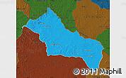 Political Map of RIVERA, darken