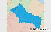 Political Map of RIVERA, lighten