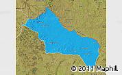 Political Map of RIVERA, satellite outside