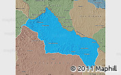 Political Map of RIVERA, semi-desaturated