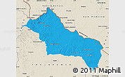 Political Map of RIVERA, shaded relief outside