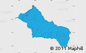 Political Map of RIVERA, single color outside