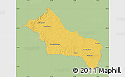 Savanna Style Map of RIVERA, single color outside