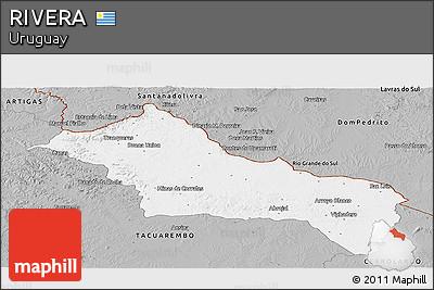 Gray Panoramic Map of RIVERA