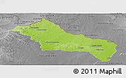 Physical Panoramic Map of RIVERA, desaturated