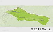 Physical Panoramic Map of RIVERA, lighten
