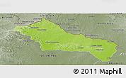 Physical Panoramic Map of RIVERA, semi-desaturated