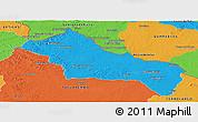 Political Panoramic Map of RIVERA