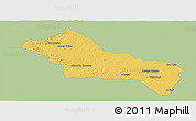 Savanna Style Panoramic Map of RIVERA, single color outside