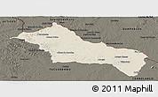 Shaded Relief Panoramic Map of RIVERA, darken