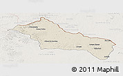 Shaded Relief Panoramic Map of RIVERA, lighten