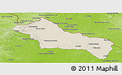Shaded Relief Panoramic Map of RIVERA, physical outside