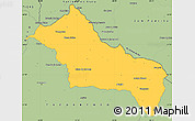 Savanna Style Simple Map of RIVERA
