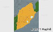 Political 3D Map of ROCHA, darken