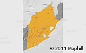 Political 3D Map of ROCHA, desaturated