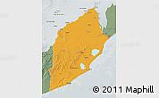 Political 3D Map of ROCHA, semi-desaturated
