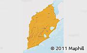 Political 3D Map of ROCHA, single color outside