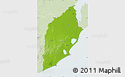 Physical Map of ROCHA, lighten