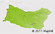 Physical 3D Map of SALTO, cropped outside