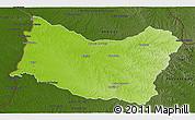 Physical 3D Map of SALTO, darken