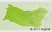 Physical 3D Map of SALTO, lighten