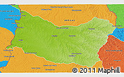 Physical 3D Map of SALTO, political outside