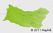 Physical 3D Map of SALTO, single color outside