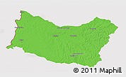 Political 3D Map of SALTO, cropped outside