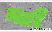 Political 3D Map of SALTO, desaturated
