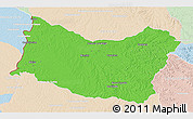 Political 3D Map of SALTO, lighten