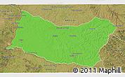 Political 3D Map of SALTO, satellite outside
