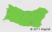 Political 3D Map of SALTO, single color outside