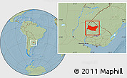 Savanna Style Location Map of SALTO, hill shading