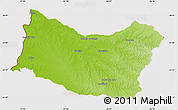 Physical Map of SALTO, cropped outside