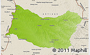 Physical Map of SALTO, shaded relief outside