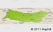 Physical Panoramic Map of SALTO, shaded relief outside