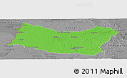 Political Panoramic Map of SALTO, desaturated