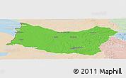 Political Panoramic Map of SALTO, lighten