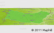 Political Panoramic Map of SALTO, physical outside