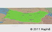 Political Panoramic Map of SALTO, semi-desaturated